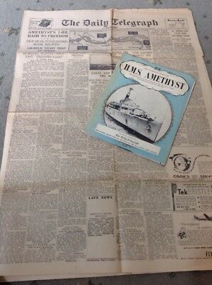 Antique Yangtze Incident Newspaper 1949 And  Booklet