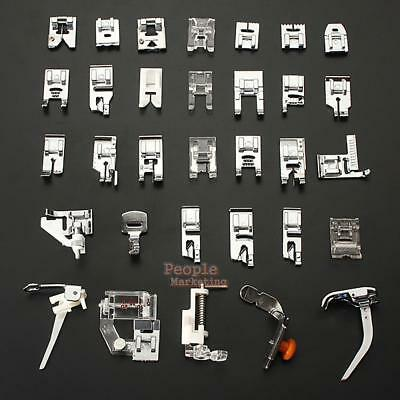 32Pcs/Set Sewing Machine Presser Foot Kit Feet For Brother Singer Domestic Snap