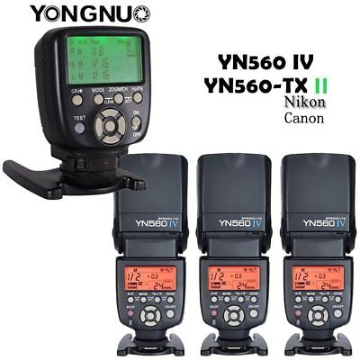 YONGNUO YN560 IV Wireless Speedlite Flash+YN560-TX II Controller For Nikon/Canon