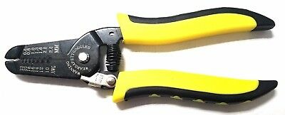 Wire Stripper Cutter Pliers Electricians Tool 22-10 AWG YL/BLK