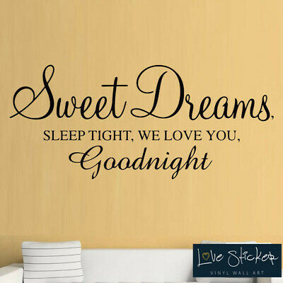 Wall Decal Sticker Quote Vinyl Lettering Graphic Sweet Dreams Sleep Tight K24