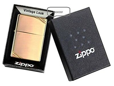 "Vintage Brass    ""zippo  Windproof Lighter""   Polished Brush Brass - New In Box"