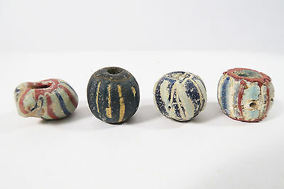 4 antike Glasperlen Chevron beads A Speo Antique Trade beads perles Afrozip