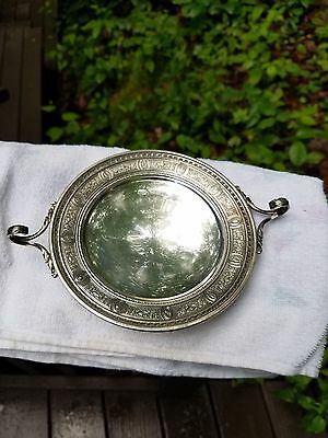 """Fine International Sterling Silver Wedgwood 6"""" Footed Plate With Handles"""