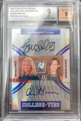 2007 Donruss Elite Dual Auto: Jennie Finch/amanda Beard #1/1 Of One Autograph