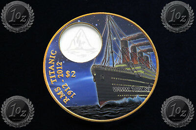 BRITISH VIRGIN ISLANDS $ 2 DOLLARS 2012 (RMS TITANIC) BRONZE Commem. Coin * BOX
