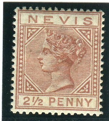 NEVIS-1882-90 2½d Red Brown.  A fine mounted mint example Sg 28