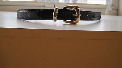 Navy Snakeskin Belt By Jana