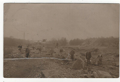 Men And Boys Working In A German Stone Quarry Old Photo Postcard