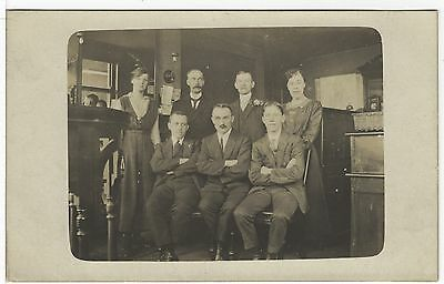 Office Scene With Female And Male Staff Working Life Old Photo Postcard