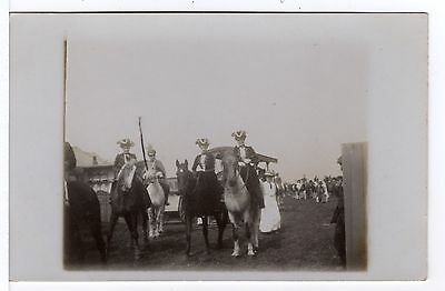 Three Ladies In Costume On Horse Back Fair Circus Show Old Real Photo Postcard