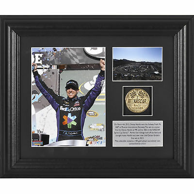 NASCAR Denny Hamlin 2012 Subway Fresh Fit 500 Winner Framed Memorabilia