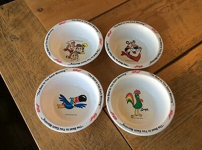 Set of 4 Retro Vintage 1995 Kellogg's The Best To You Each Morning Cereal Bowls