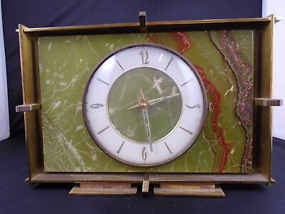 Heavy vintage art deco mantel clock converted to battery movement