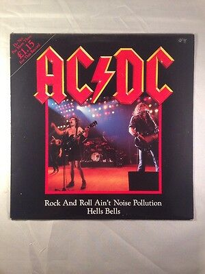 AC/DC Rock And Roll Ain't Noise Pollution/Hells Bells UK Release