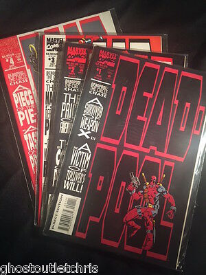 DEADPOOL Circle Chase Limited Series #1-4 Complete - Excellent cond. MINT- WHITE