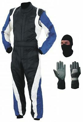 New Go Kart Race Suit Pack with and free Gift gloves balaclava