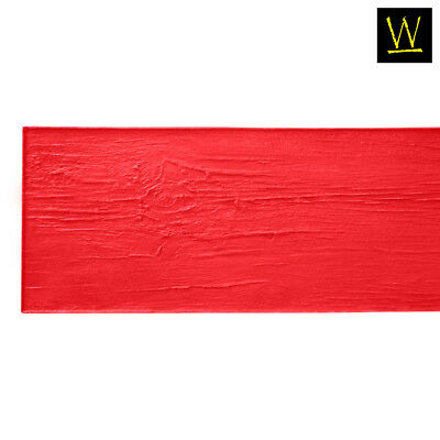 Centennial Plank Wood   Single Concrete Stamp by Walttools (Red, 6 ft.)