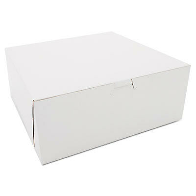 Bakery Boxes, White, Kraft, 10W x 10D x 4H 0973