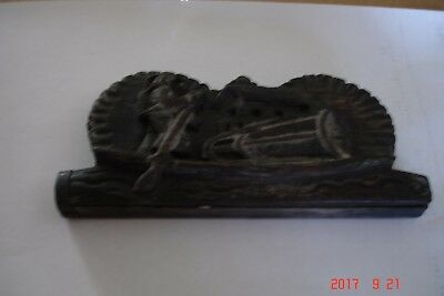 ANTIQUE Opium Weight Scale Set Hand Carved Rower