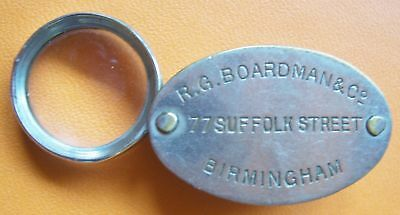 Small Vintage folding plated Brass Magnifier & Compass by R.G.Boardman & Co.
