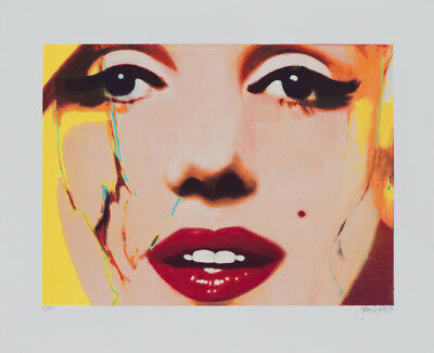 James Francis Gill - HER INTOXICATING LIPS - 2016, Pop Art Grafik - Marilyn