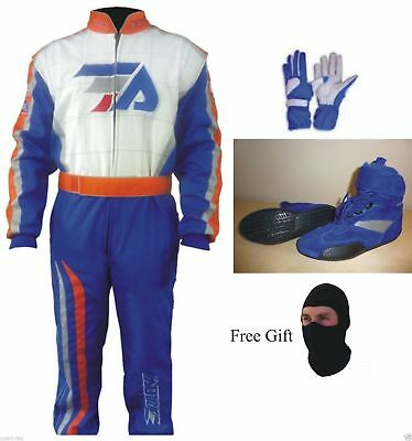 FA Go Kart Race Suit CIK FIA Level 2 Approved Shoes with free gift Gloves