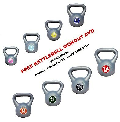 Kettlebell Vinyl kettlebells 4kg 6kg 8kg 10kg 12kg Kettle bell FREE SHIPPING