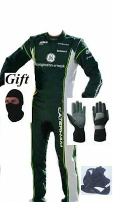 CATERHAM Go Kart Race Suit CIK FIA Level 2 Approved Shoes with free gift Gloves