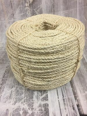 20mt x 10mm  natural sisal rope, pets, cat scratching rope, gardens, crafts,pets