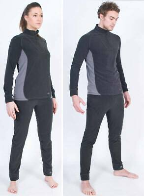 Trespass Thriller Women Men Thermal Underwear Set Warm Ski Base Layer Set