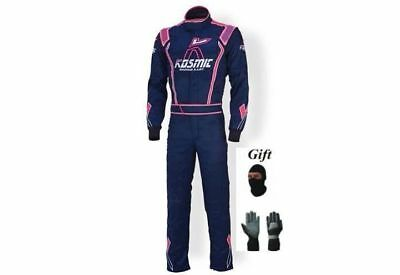 Kosmic 2015 Go Kart Race Suit CIK FIA Level 2 with free Gloves & balaclava