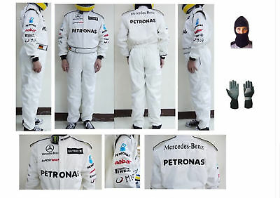 Mercedies Go Kart Race Suit CIK FIA Level 2 with free Gloves & balaclava