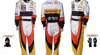 Renault Go Kart Race Suit CIK FIA Level 2 with free Gloves and balaclava