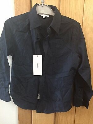 Brand New With Tags Hugo boss boys Shirt Age 5 Years in navy blue