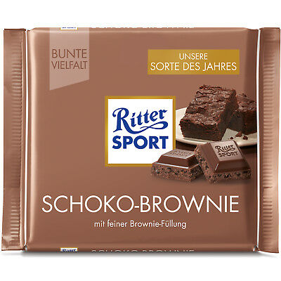 Ritter Sport Chocolate Brownie (Pack of 5) (Product of the Year 2017)