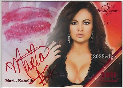 2011 Benchwarmer Limited Kiss Auto: Maria Kanellis #1/1 Of Red Autograph Playboy