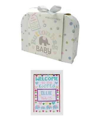 Buttonbag Baby Sampler Embroidery Kit Unique Personlised Gift Set