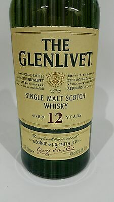 Glenlivet 12 Year Scotch Whisky 1L!! Discontinued!! Rare Old Packaging! Sealed!!