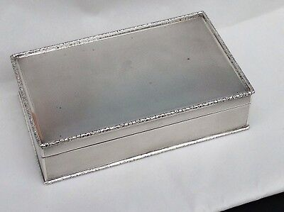 Excellent Sterling Silver Table Cigarette Box, C. 1930/40