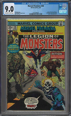 Marvel Premiere #28 CGC 9.0 Off White to White Pages 1st Legion of Monsters