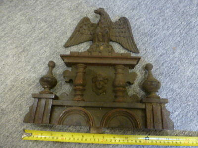 Old vienna regulator wall clock pediment top for spares