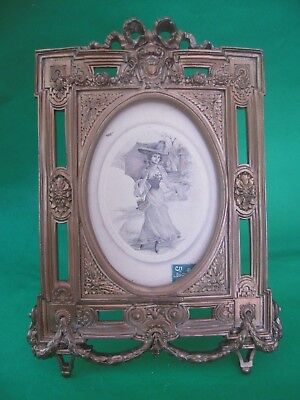 Vintage Gilt Ormolu Metal Classical Picture or Photo Frame possibly French