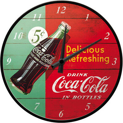Coca-Cola - Delicious refreshing green Wanduhr, 31 cm
