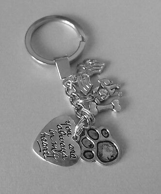 Dog memorial keyring