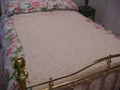 Large cotton crocheted Bedspread  104X82