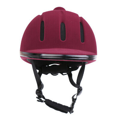 Velvet Equestrian Helmet Safety Horse Riding Hat Head Protective Gear L