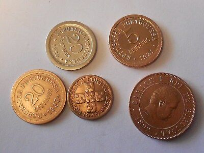 portugal lot of 5 coins very good lot
