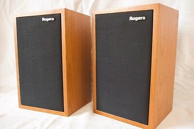 Rogers LS3/5A Speakers, matched pair, Teak