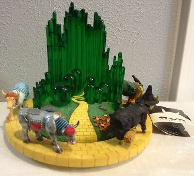 Cow Parade # 7264 The Wizard Of Oz Dorothy Scarecow Lion Witch Musical Figurine